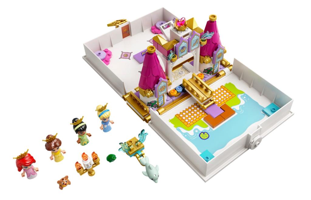 LEGO Disney 43192 Ariel Belle Cinderella and Tianas Storybook Adventures contents
