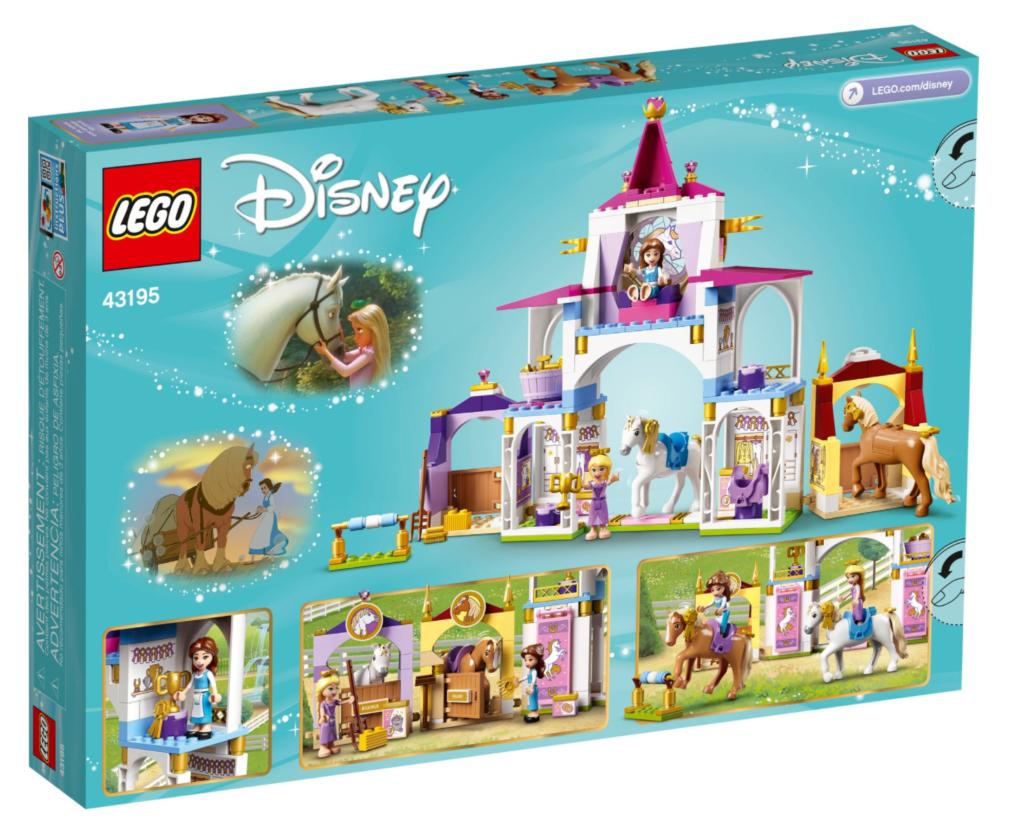 LEGO Disney 43195 Belle and Rapunzels Royal Stables box back