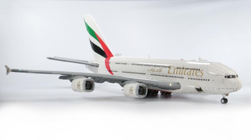 LEGO Emirates Superjumbo Aeroplane Featured