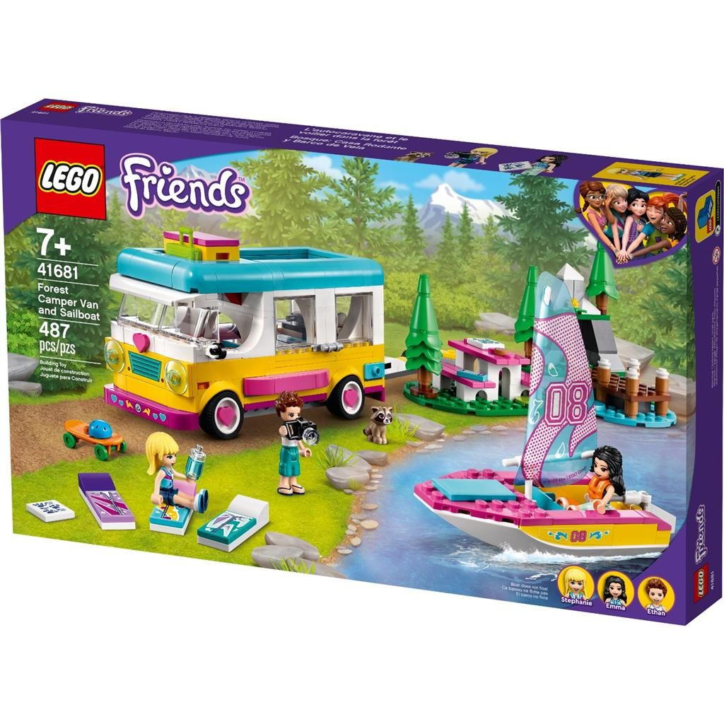 LEGO FRIENDS 41681 FOREST CAMPER VAN AND SAILBOAT 1 1024x1024