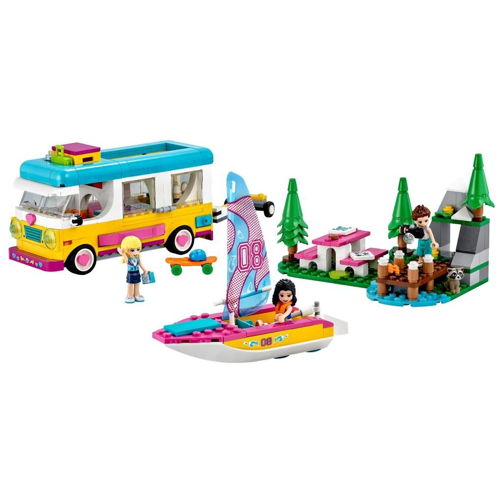 LEGO FRIENDS 41681 FOREST CAMPER VAN AND SAILBOAT 2 1024x1024