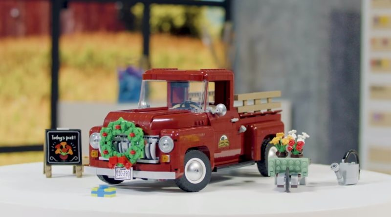 LEGO For Adults 10290 Pickup Truck designer video featured