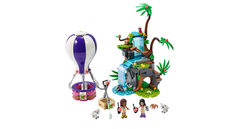 LEGO Friends 41423 Tiger Hot Air Balloon Jungle Rescue Featured 800x445
