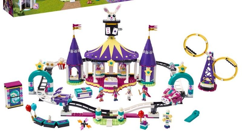 LEGO Friends 41685 Magical Funfair Rollercoaster Featured 800x445