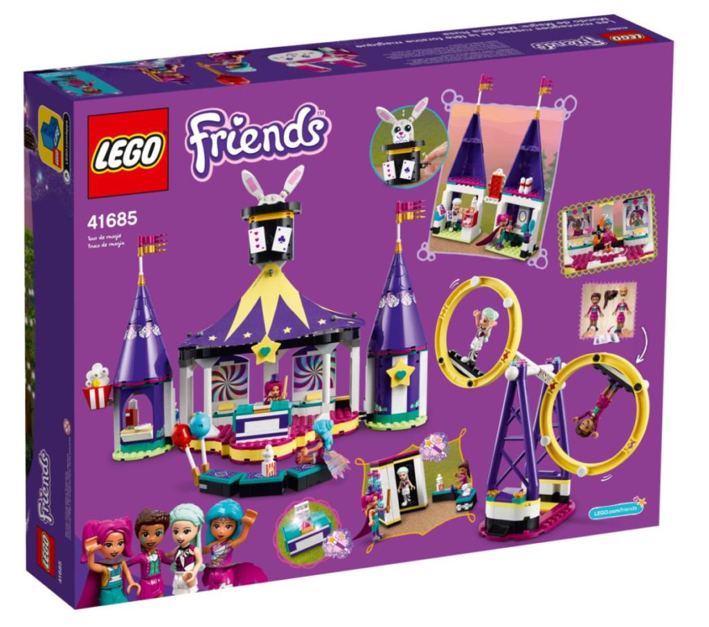 LEGO Friends 41685 Magical funfair rollercoaster box back