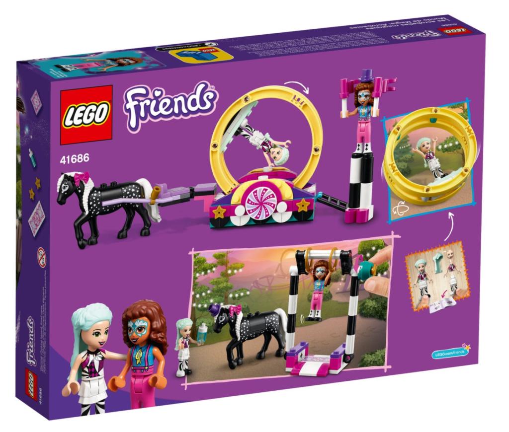 LEGO Friends 41686 Magical Acrobatics box back