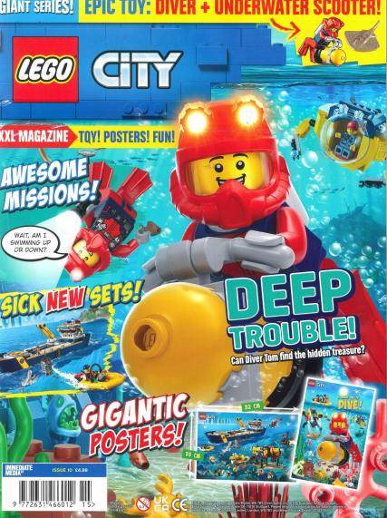 LEGO Giant Series Magazine City deep sea diver polybag issue