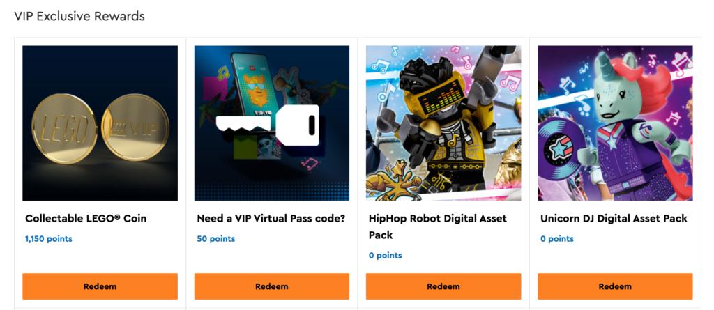 LEGO Gold Coin VIP Rewards Centre Screenshot 4