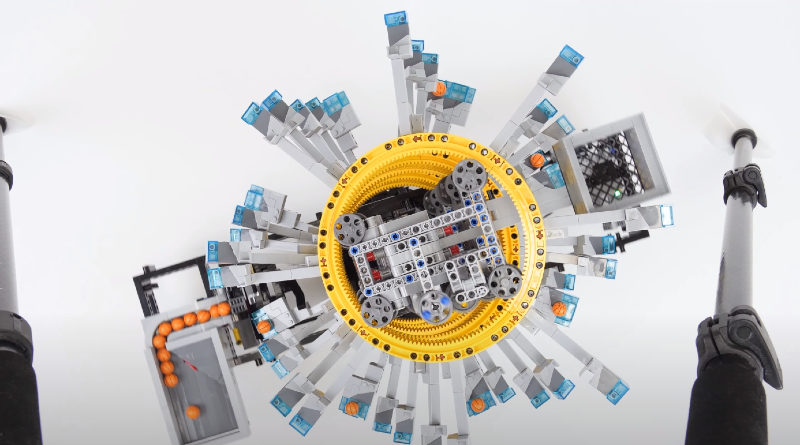 LEGO Great ball contraption five tilted rings featured