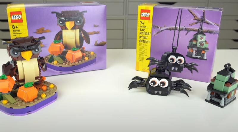 LEGO Halloween Seasonal 40497 Halloween Owl 40493 Spider Haunted House Pack First Look Featured