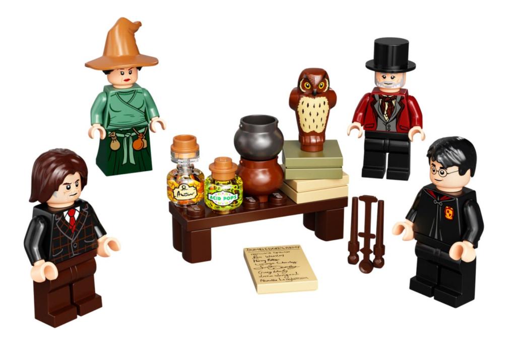 LEGO Harry Potter 40500 Wizarding World Minifigure Accessory Set contents