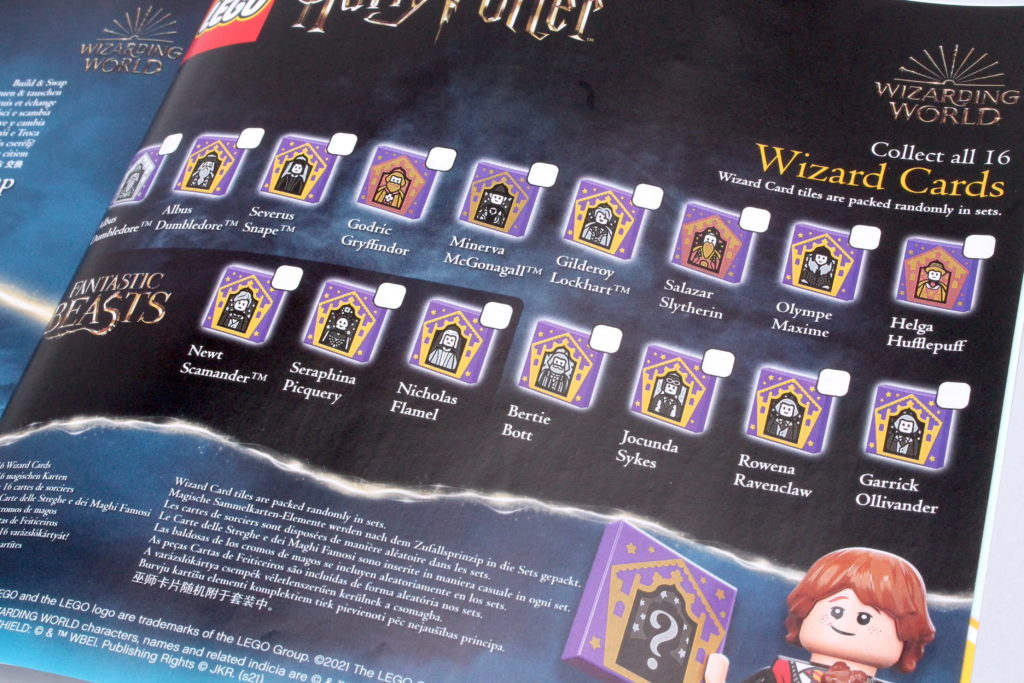 LEGO Harry Potter Collectible Wizard Cards 5 1