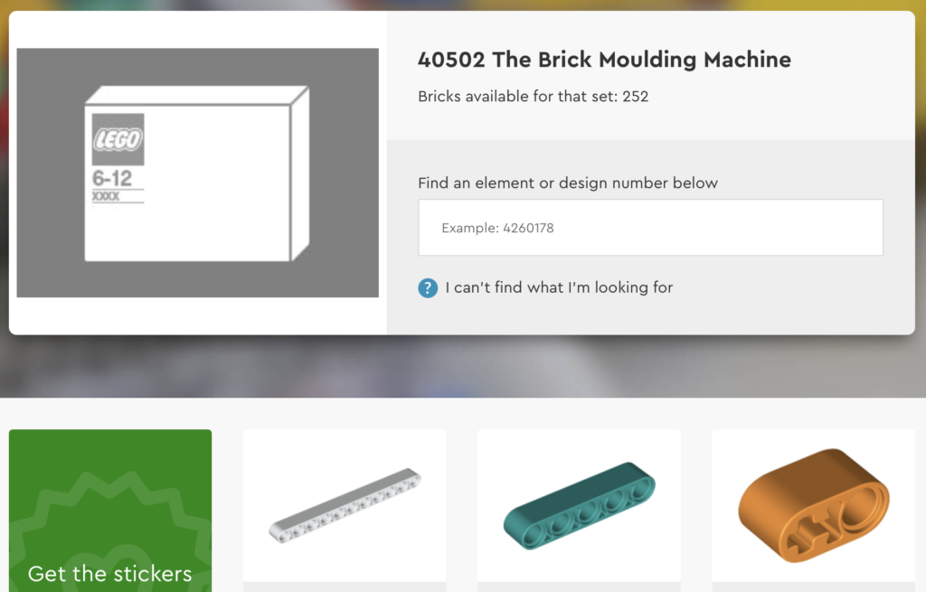 LEGO House 40502 The Brick Moulding Machine Bricks And Pieces