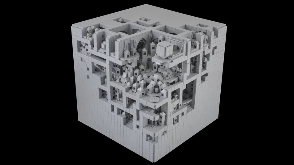 LEGO House Contest Hexahedral Planetoid