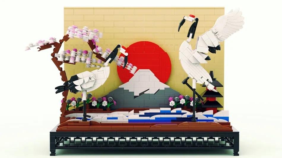 LEGO House Contest Mount Fuji and Cranes
