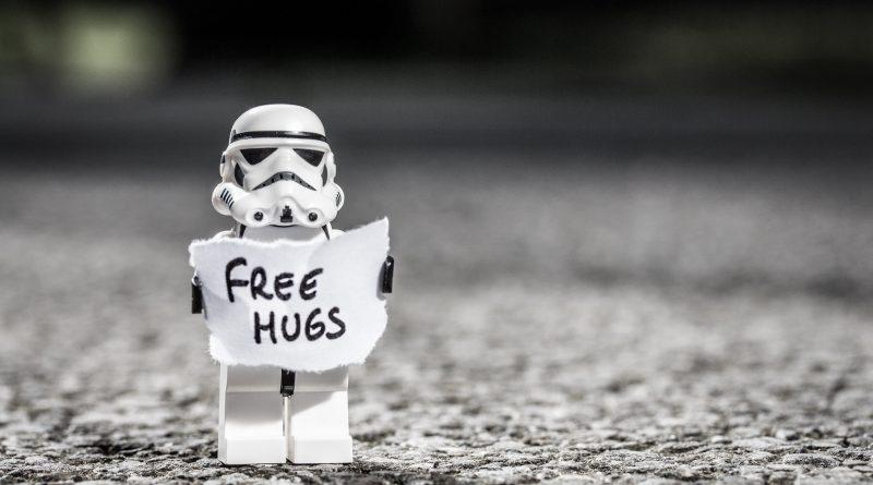 LEGO Stormtrooper hugs