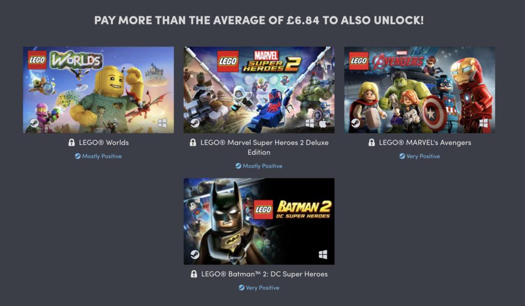 LEGO Humble Bundle Games