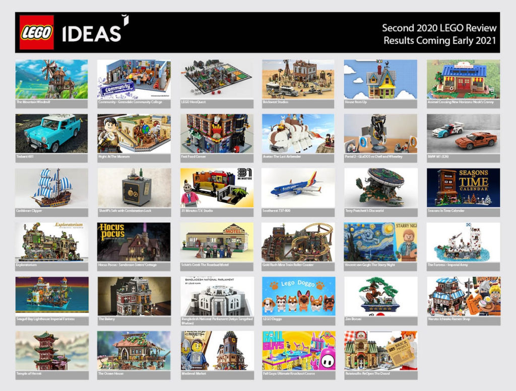 LEGO Ideas 2020 Review 2 Results