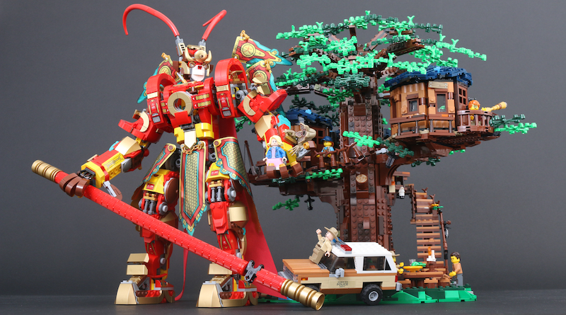 LEGO Ideas 21318 Tree House Stranger Things 75810 The Upside Down Monkie Kid 80012 Monkie King Warrior Mech LEGO Competition Newsletter Title 2