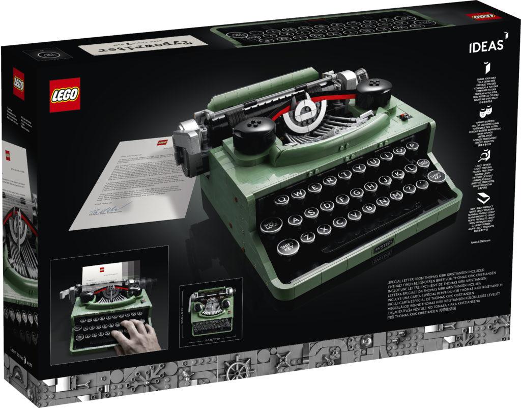 LEGO Ideas 21327 Typewriter box 3