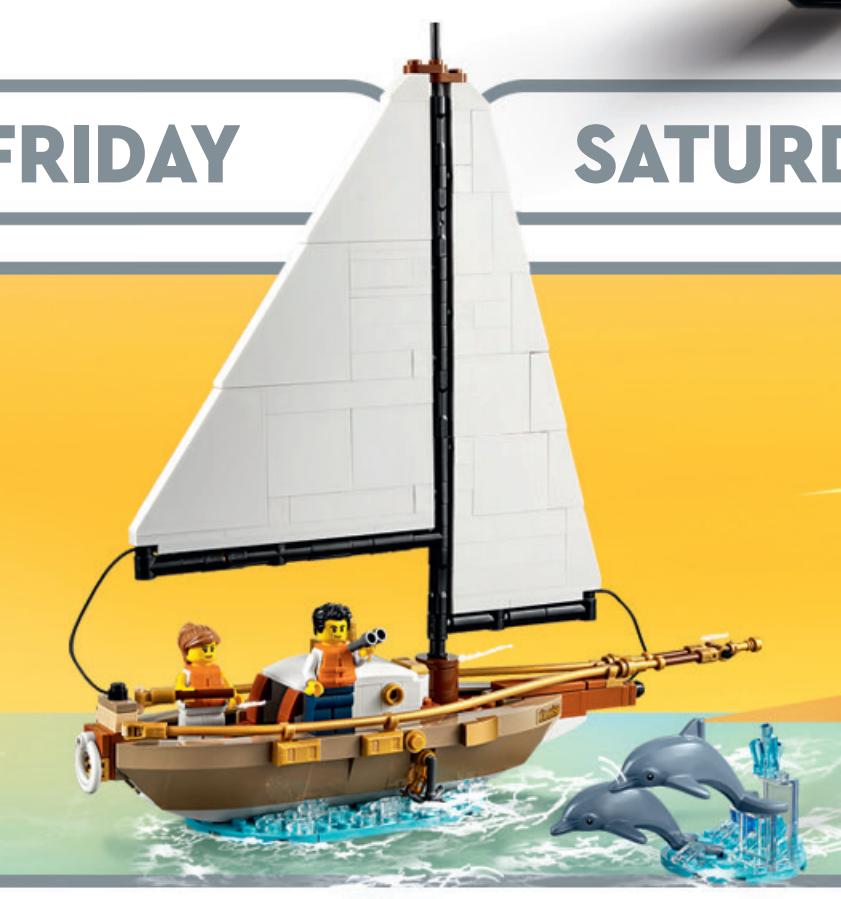 LEGO Ideas 40487 Sailboat Adventure store calendar