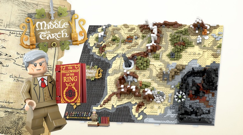 LEGO Ideas A Map Of Middle Earth Featured