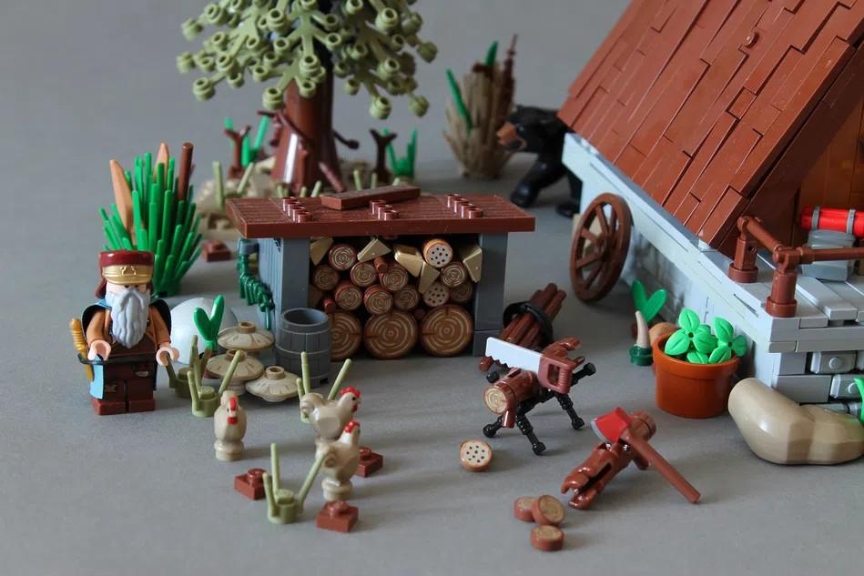 LEGO Ideas A frame Cabin outside 2