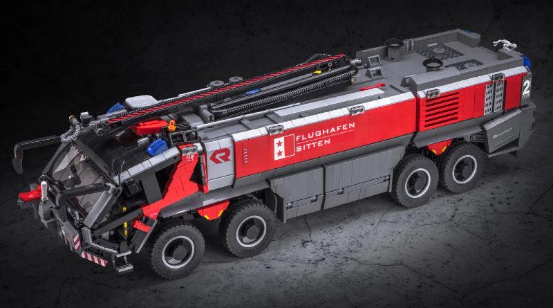 LEGO Ideas AIRPORT FIRETRUCK ROSENBAUER PANTHER 8X8 featured