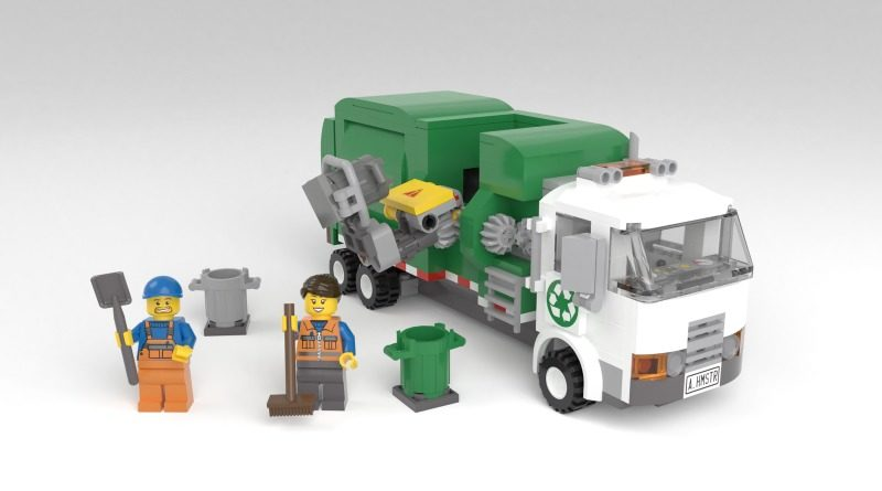 LEGO Ideas Automated Garbage Truck Featured 800x445