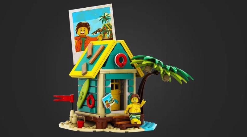 LEGO Ideas Beach Hut Photo Holder Featured