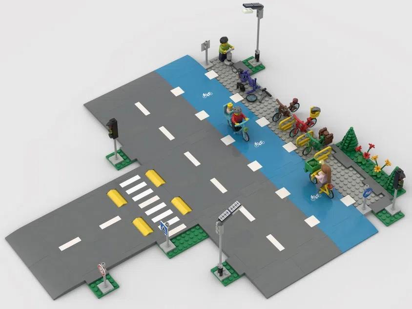 LEGO Ideas Bike lanes 4