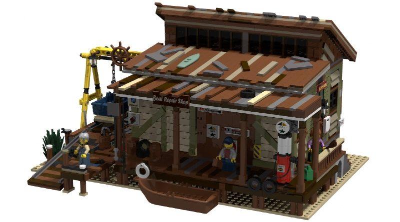 LEGO Ideas BrickLink Designer Program Boat Repair Shop featured