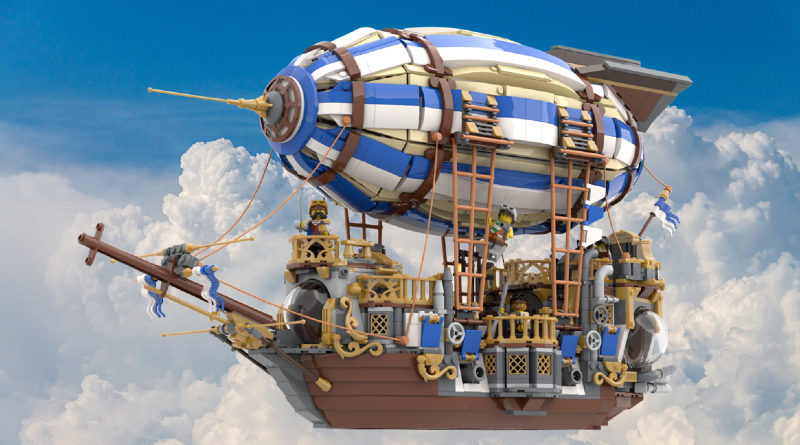 A steampunk airship has sailed its way to success on LEGO Ideas