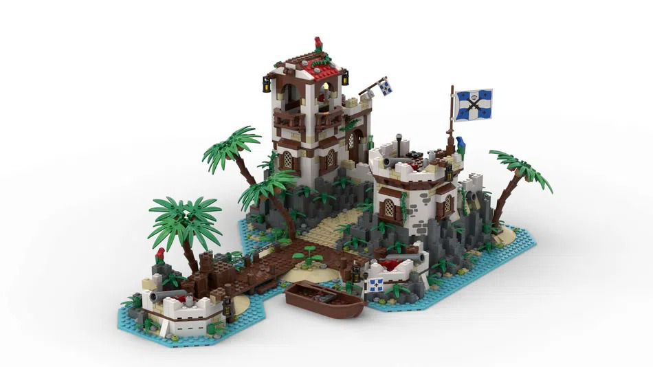 LEGO Ideas Imperial Island Fortress 1