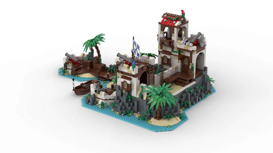 LEGO Ideas Imperial Island Fortress 2