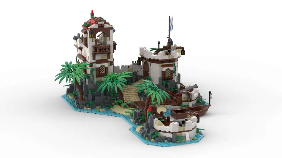 LEGO Ideas Imperial Island Fortress Front