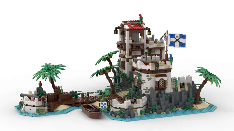 LEGO Ideas Imperial Island Fortress Pier