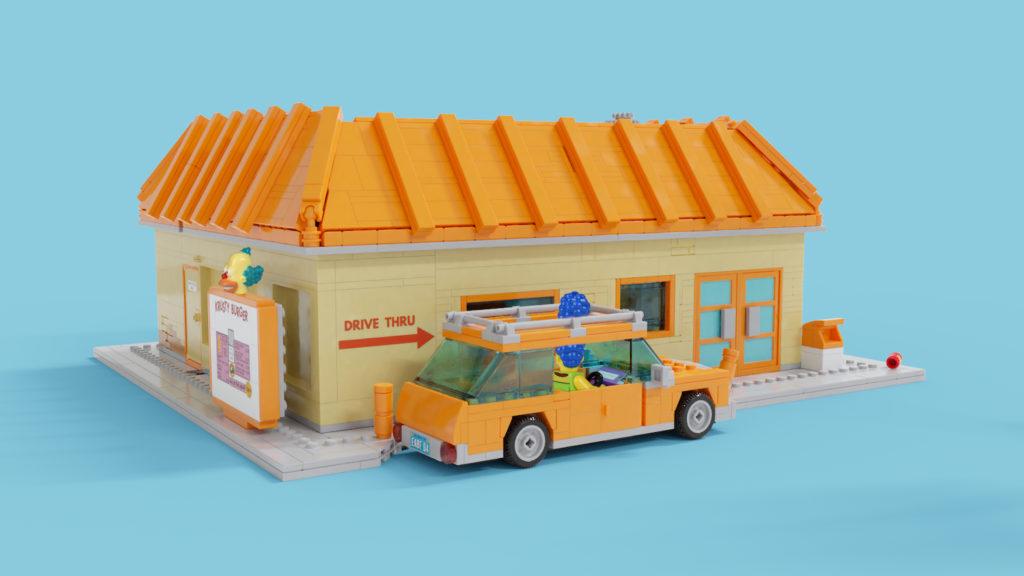 LEGO Ideas Krusty Burger Drive Thru