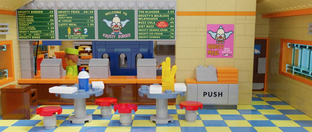 LEGO Ideas Krusty Burger Interior 1