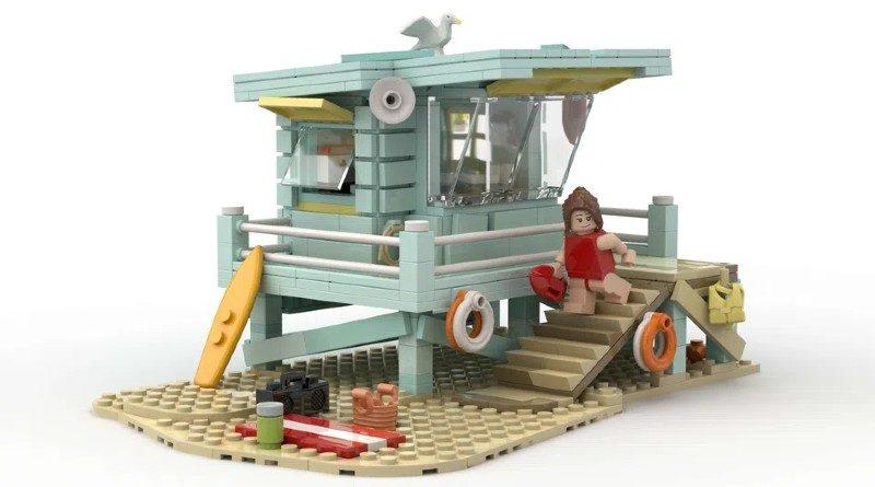 LEGO Ideas Lifeguard shack featured