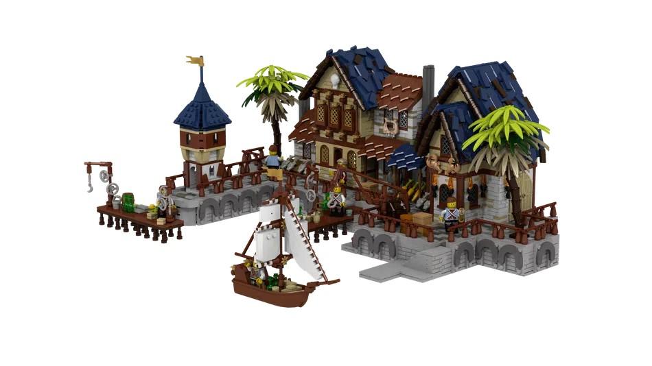 LEGO Ideas Medieval Harbour 1