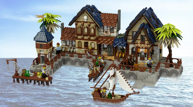 LEGO Ideas Medieval Harbour Featured