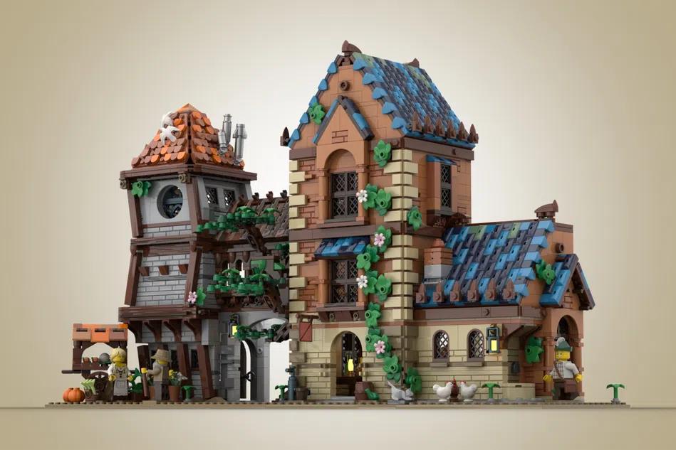 LEGO Ideas Medieval tavern 4