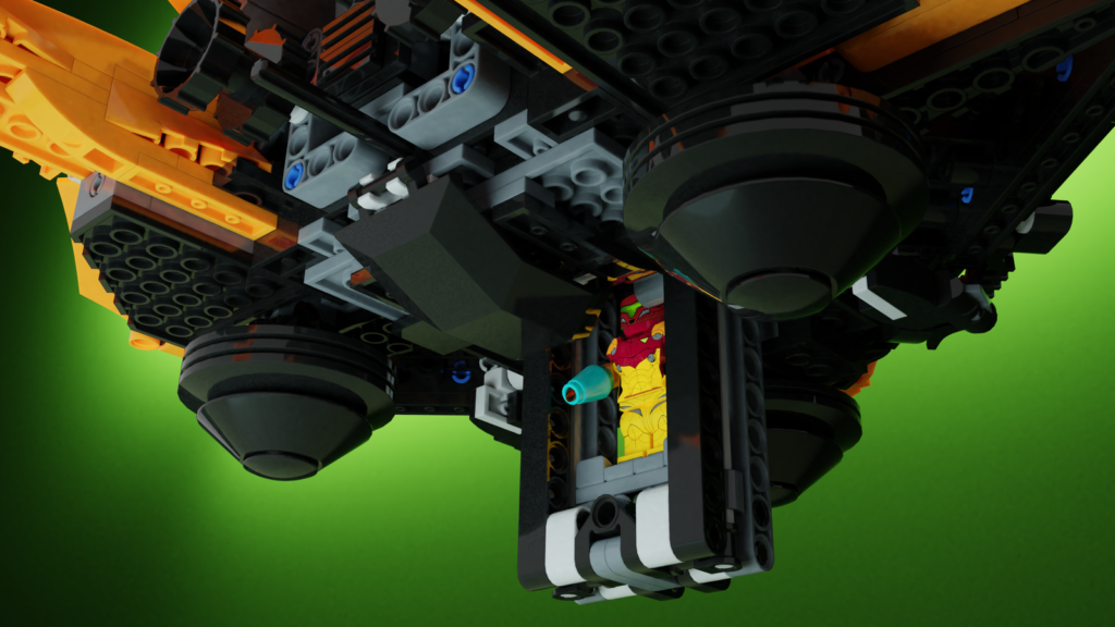 LEGO Ideas Metroid Samus Arans Gunship 2