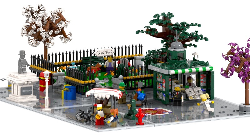 Expand your LEGO modular building layout with this 10K Ideas project