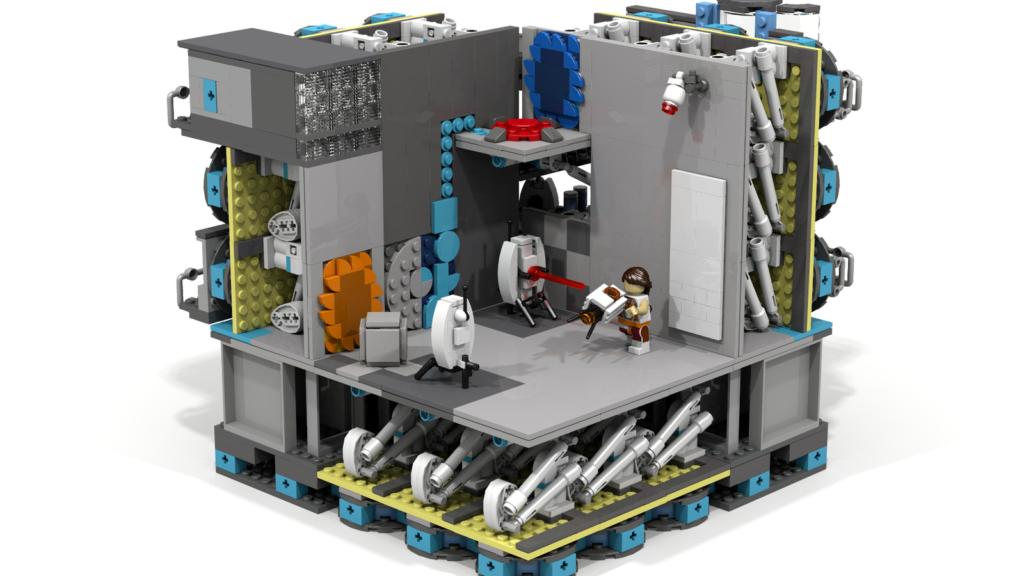 LEGO Ideas Modular Portal Testing Chamber 1