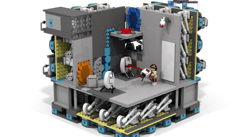 LEGO Ideas Modular Portal Testing Chamber Featured
