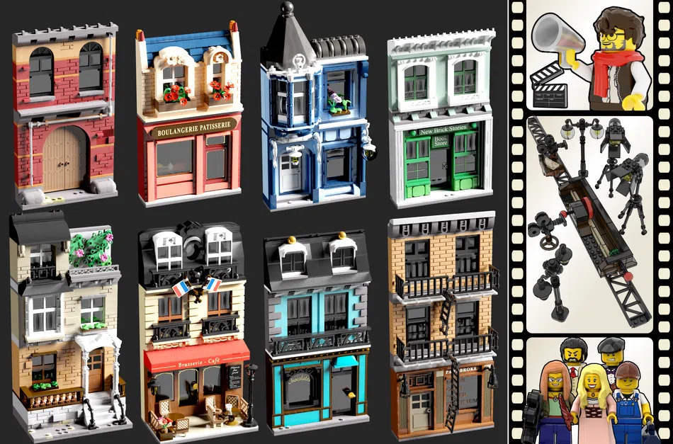 LEGO Ideas Movie Set Props