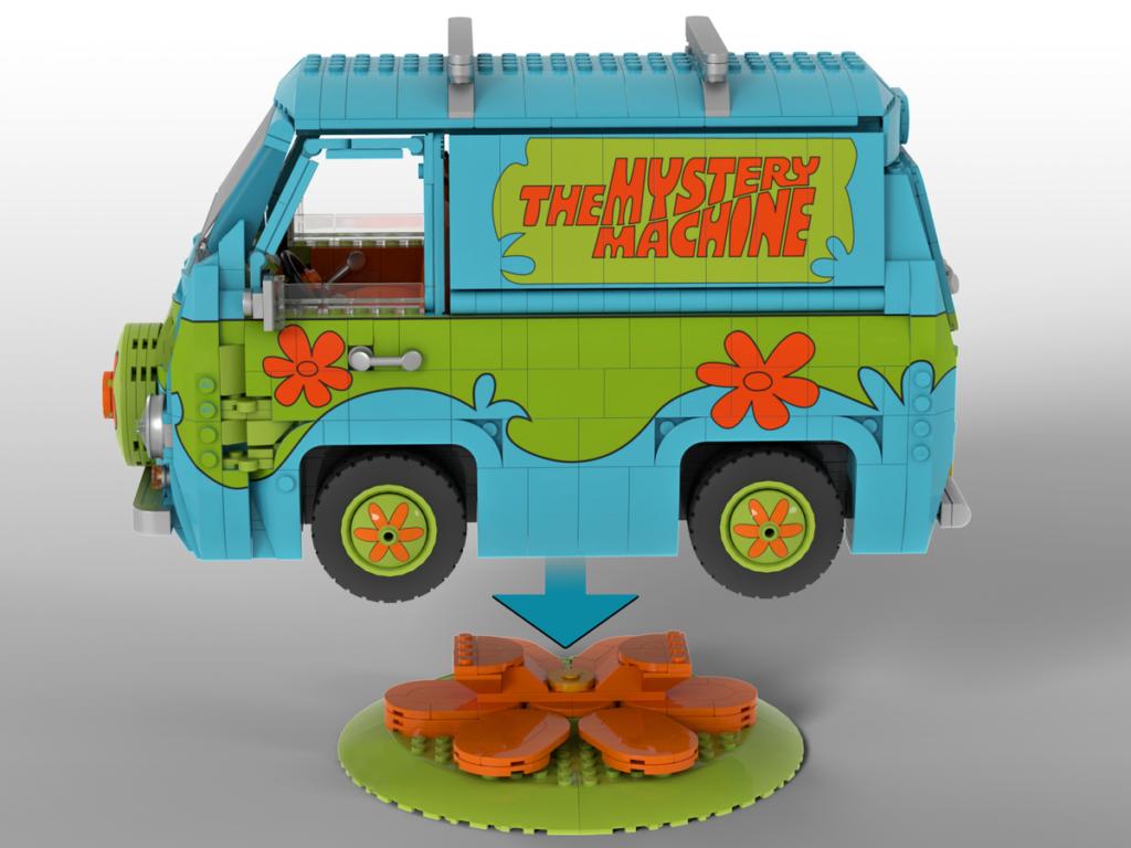 LEGO Ideas Scooby Doo Mystery Machine 2