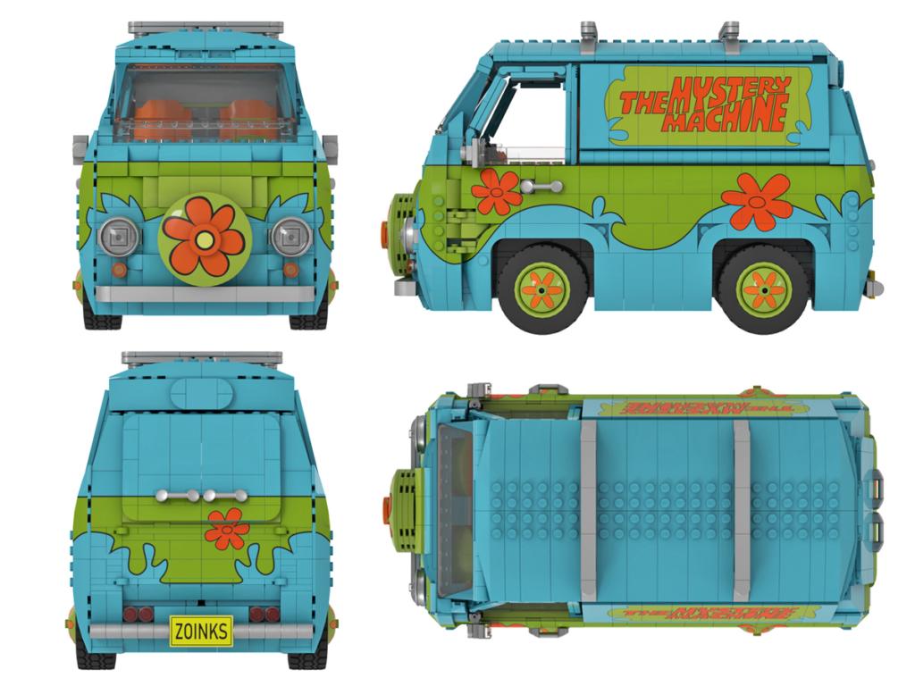 LEGO Ideas Scooby Doo Mystery Machine 5